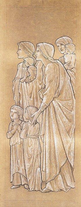 Sir Edward Burne-Jones: Mütter bringen ihre Kinder zu Christus