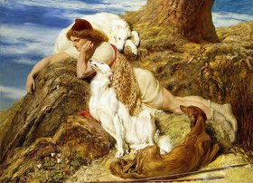 Briton Riviere: 'Ah! well-a-day, Why should our young Endymion pine away' (aus: Endymion von John Keats)