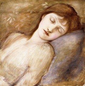 Sir Edward Burne-Jones: Studie für die Schlafende Prinzessin der Dornröschen-Bildfolge