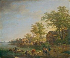 Max Joseph Wagenbauer: Viehmarkt am Starnberger See