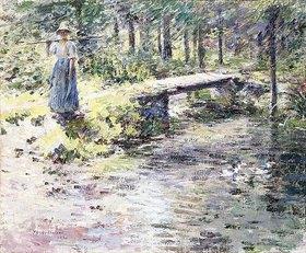 Theodore Robinson: Die kleine Brücke (Der Bach)