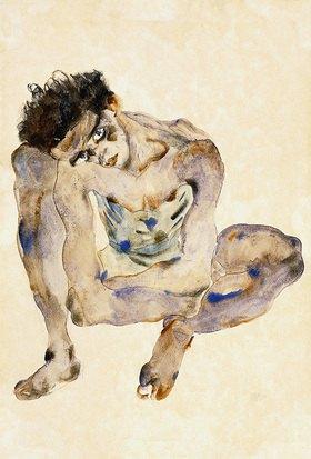Egon Schiele: Hockender (Selbstbildnis)