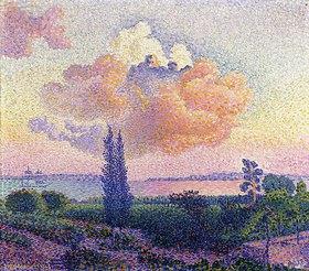 Henri Edmond Cross: Die rosafarbene Wolke (Le Nuage Rose)