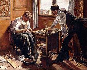 Maximilien Luce: Der Schuhmacher, die beiden Brüder Givort