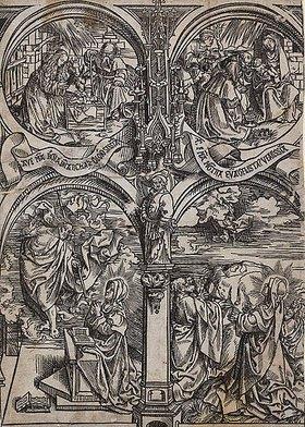 Jacob Corn. van Oostsanen: Vier Szenen aus dem Marienleben