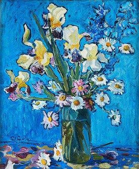 Paul Paeschke: Stillleben: Lilien in einer Vase