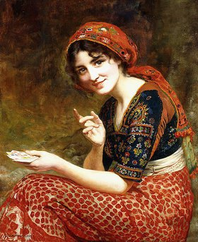 William Clarke Wontner: Die Wahrsagerin