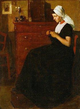 Richard Edward Miller: Nähende Frau