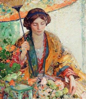 Richard Edward Miller: Frau mit Sonnenschir