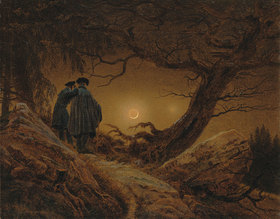 Caspar David Friedrich: Zwei Männer in Betrachtung des Mondes