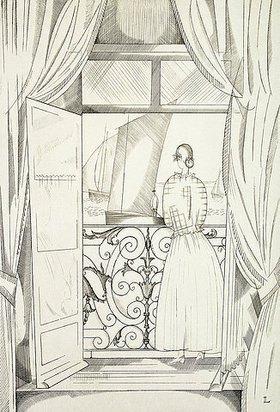 Jean-Emile Laboureur: Der Balkon über dem Meer (Le Balcon sur la Mer)