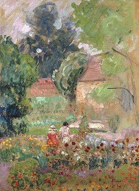 Henri Lebasque: Marthe, Nono und Pierre im Garten