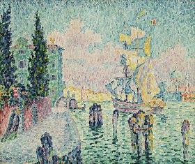 Paul Signac: Das grüne Haus, Venedig (La Maison Verte, Venise)