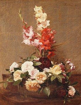 Henri de Fantin-Latour: Gladiolen und Rosen