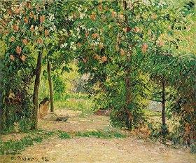 Camille Pissarro: Der Garten in Eragny im Frühling (Le Jardin au Printemps à Eragny)
