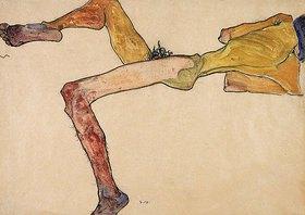 Egon Schiele: Liegender männlicher Akt