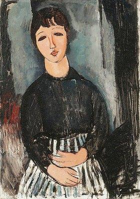 Amadeo Modigliani: Eine Dienerin in gestreifter Schürze (La Servante au Tablier Rayé)