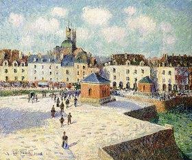 Gustave Loiseau: Der Quai de Carénage, Dieppe, bei Sonnenschein