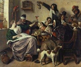 Jan Steen: Fröhliche Gesellschaft (Die Familie des Malers)