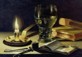 Pieter Claesz.: Stilleben mit brennender Kerze