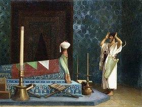 Jean-Léon Gérome: Gebet im Raum des Sultans (Die Trauer Akubars)