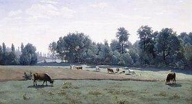 Jean-Baptiste Camille Corot: Marcoussis - weidende Kühe (Marcoussis - les Vaches au paturage)