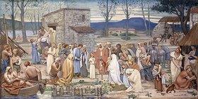 Pierre Puvis de Chavannes: Die Kindheit der heiligen Genoveva von Paris (L'Enfance de Sainte Geneviève)