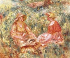 Auguste Renoir: Zwei Frauen auf einer Wiese (Deaux Femmes dans l'herbe)