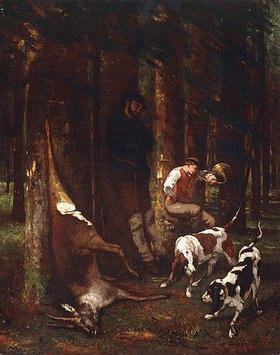 Gustave Courbet: Das Halali oder Die Jagd (L'Hallali or La Curée)