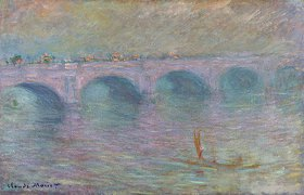 Claude Monet: Waterloo Bridge im Nebel (Waterloo Bridge, Brouillard)