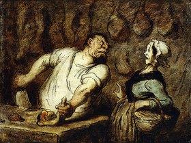 Honoré Daumier: Der Metzger auf dem Markt von Montmartre (Le Boucher, Marché Montmartre)