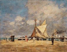 Eugène Boudin: Auf dem Hafendamm in Deauville (Deauville, sur la Jetée)