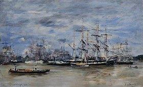 Eugène Boudin: Der Hafen von Bordeaux