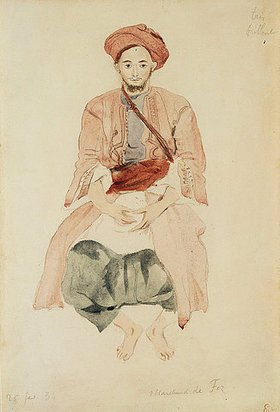 Eugene Delacroix: Der Kaufmann von Fez. Um 1832