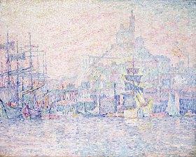 Paul Signac: Marseille, La Bonne Mère im Morgennebel