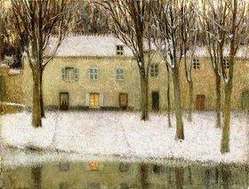 Henri Le Sidaner: Kleiner Platz am Wasser (Petite Place au Bord de l'Eau)