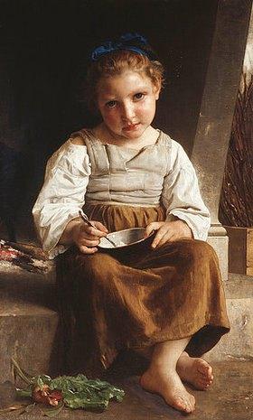 William Adolphe Bouguereau: Der Brei, kleines Mädchen beim Essen seiner Suppe (La Bouillie, Petite Fille Mangeant sa Soupe)