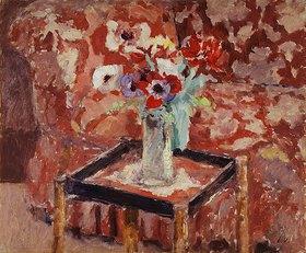 Edouard Vuillard: Vase mit Anemonen auf einem Tisch