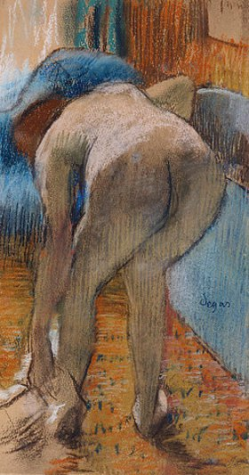 Edgar Degas: Nach dem Bad, Frau beim Abtrocknen (La Sortie du Bain, Femme s'essuyant)