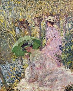 Frederick Karl Frieseke: Zwei junge Frauen im Garten