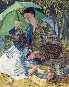 Frederick Karl Frieseke: Dame mit einem Sonnenschirm