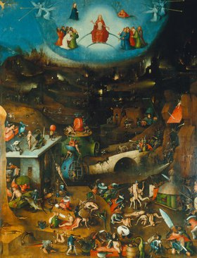 Hieronymus Bosch: Weltgerichts -Triptychon. Mitteltafel