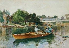Hector Caffieri: Eine Bootsfahrt auf der Themse bei Cookham