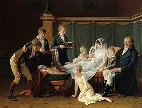 Französisch: Der Marquis und die Marquise von Cramayel mit ihren sieben Kindern in einem Interieur