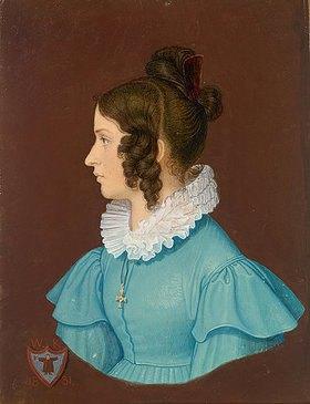 Wilhelm von Kaulbach: Josephine Suttner, die Braut des Künstlers