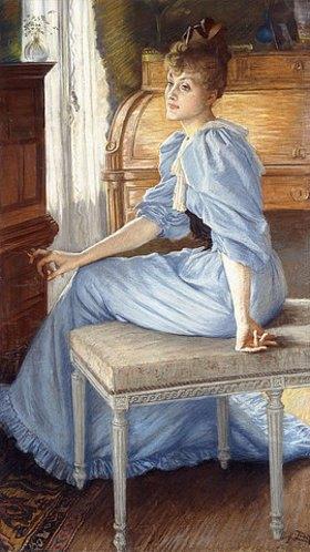 James Jacques Tissot: Porträt von Madame Henriette de Bonnières. 1880er Jahre