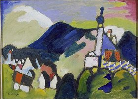 Wassily Kandinsky: Studie für Murnau mit Kirche II