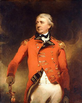 Sir Thomas Lawrence: Dreiviertelporträt von General James Stuart in einer roten Uniform
