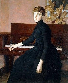 Julian Alden Weir: Am Klavier