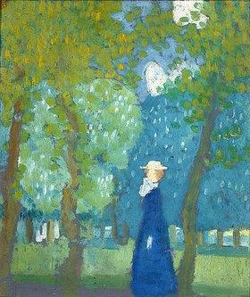 Maurice Denis: Dame in blau (Dame en bleu)